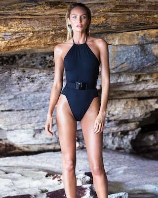 Eclipse Halter One Piece Swimsuit