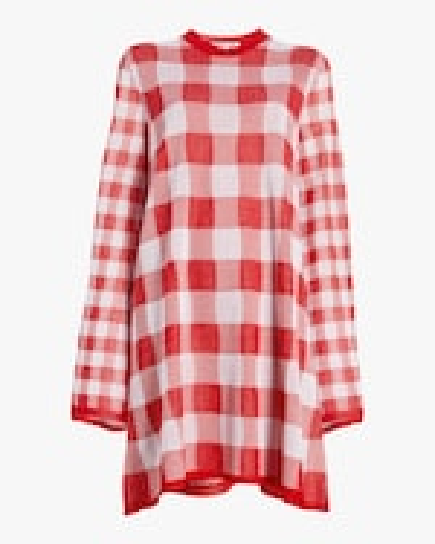 McQ Alexander McQueen Printed Checkerboard Dress 0