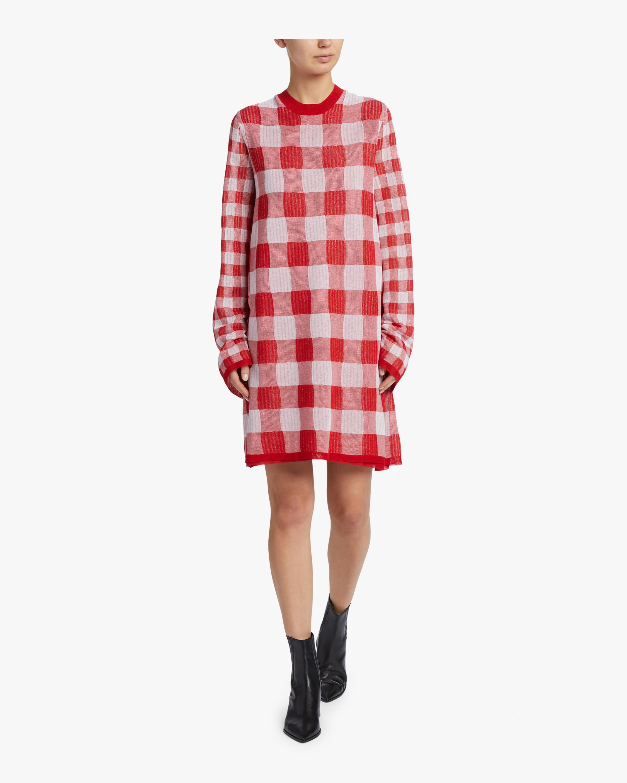 McQ Alexander McQueen Printed Checkerboard Dress 1