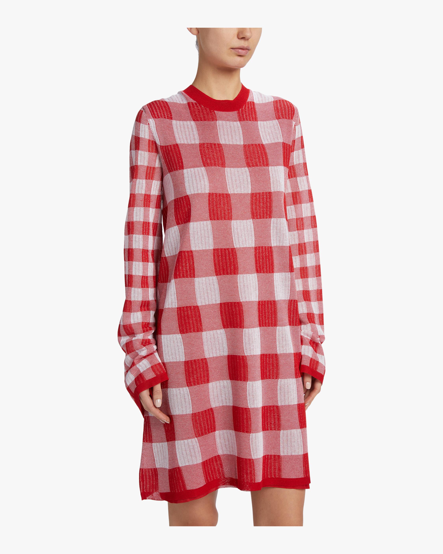 McQ Alexander McQueen Printed Checkerboard Dress 4