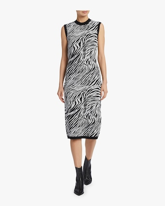 McQ Alexander McQueen Zebra Tube Dress 2