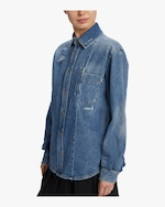 McQ Alexander McQueen Twisted Denim Shirt 4