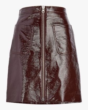 Front Zip Mini Skirt