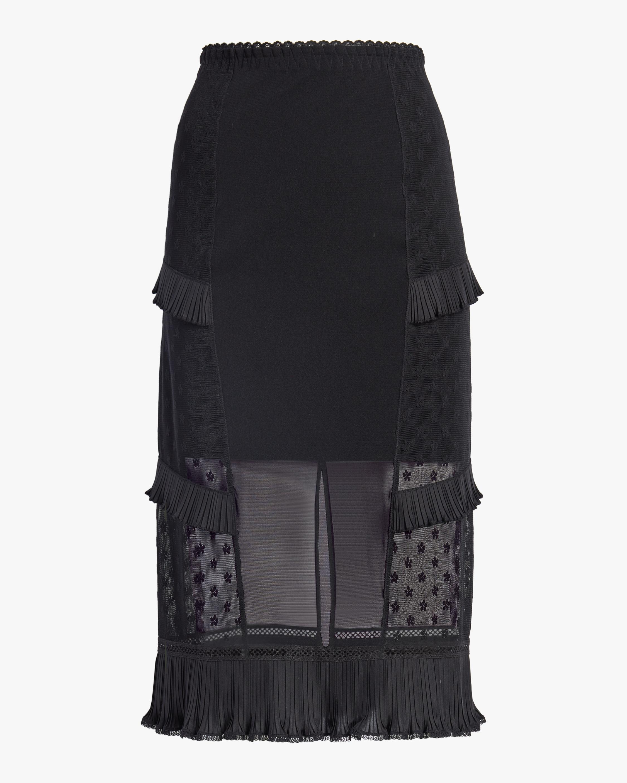 McQ Alexander McQueen Ruffle Lingerie Skirt 0