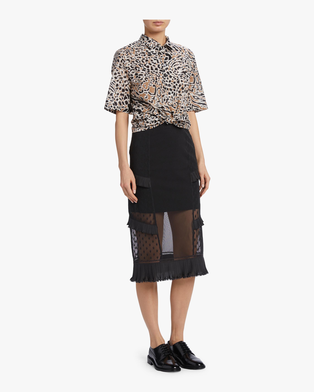 McQ Alexander McQueen Ruffle Lingerie Skirt 1