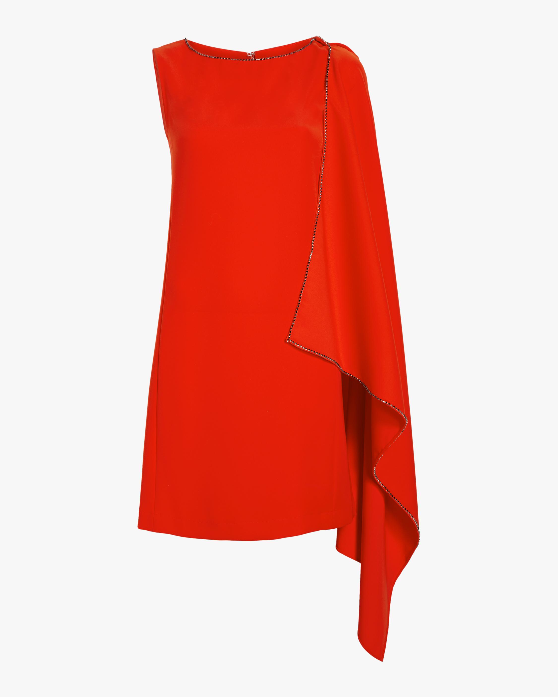 Sleeveless Cascade Dress