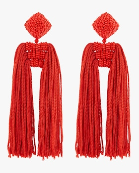 Dupio Tassel Clip On Earrings