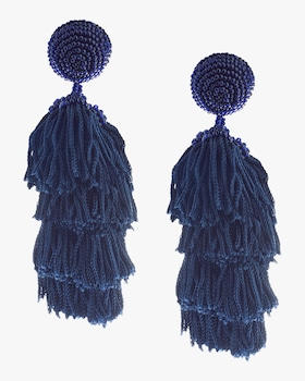 Cha Cha Fringe Clip On Earrings