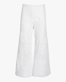 Corded Lace Cropped Pants