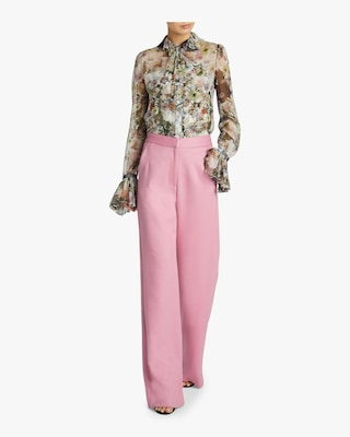 Double Face Wool Trousers