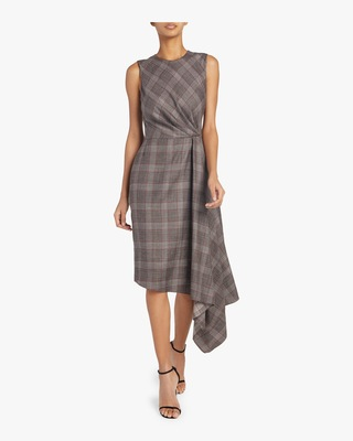 Loro Piana Plaid Silk Dress