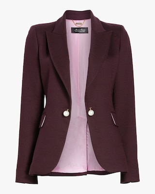 Adam Lippes Double Face Wool Tailored Blazer 1