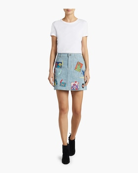 Coletta Patchwork Denim Mini Skirt