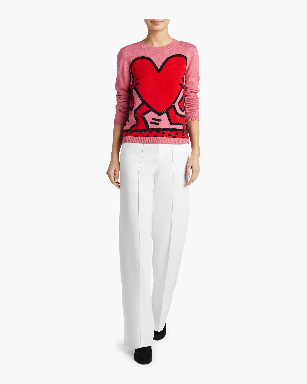 Chia Intarsia Crewneck Pullover Sweater