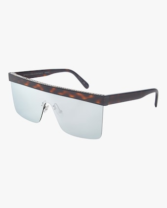 Flat Top Shield Sunglasses