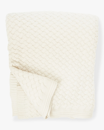 Piemonte Basketweave Knit Cashmere Throw