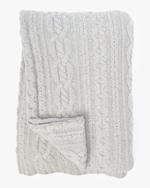 Sofia Cashmere Mixed Cable Throw Blanket 0