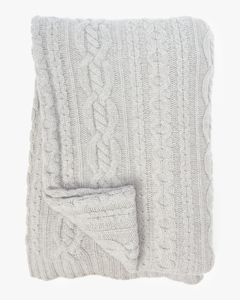 Sofia Cashmere Mixed Cable Throw 1