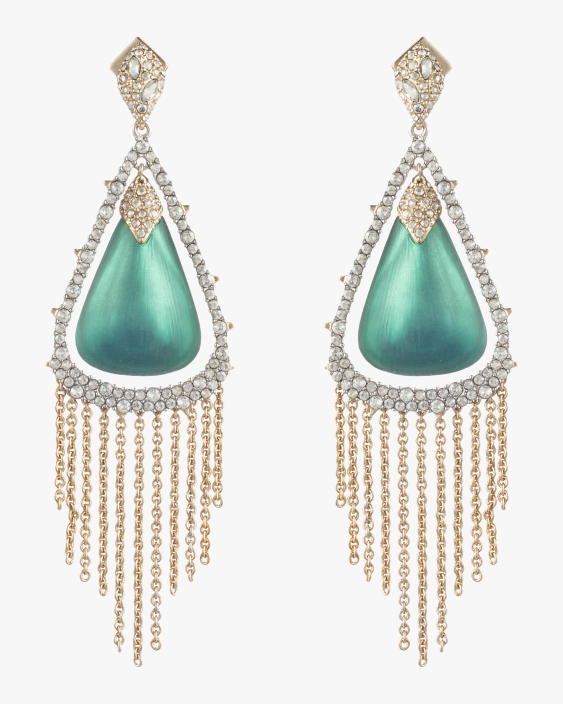 Crystal Capped Tassel Earrings