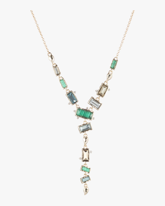 Molten Metal Multi-Stone Y Necklace