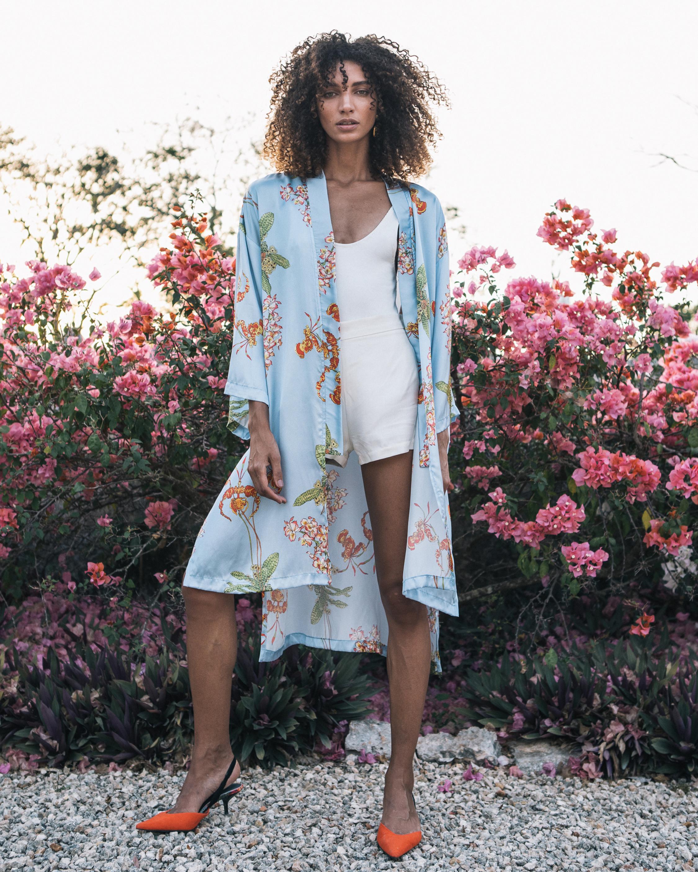 Kimmy Silk Satin Kimono
