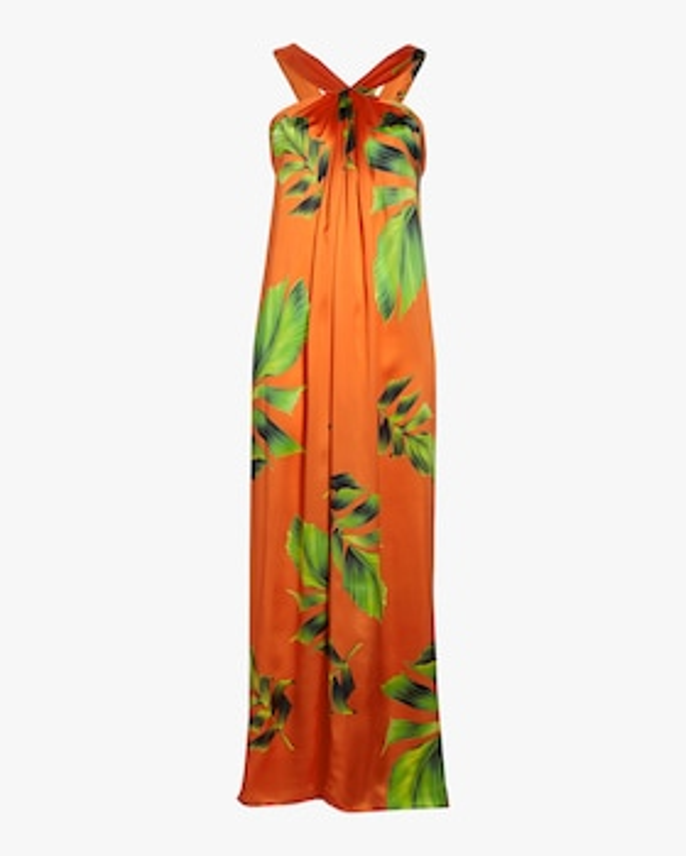 Column Silk Satin Dress