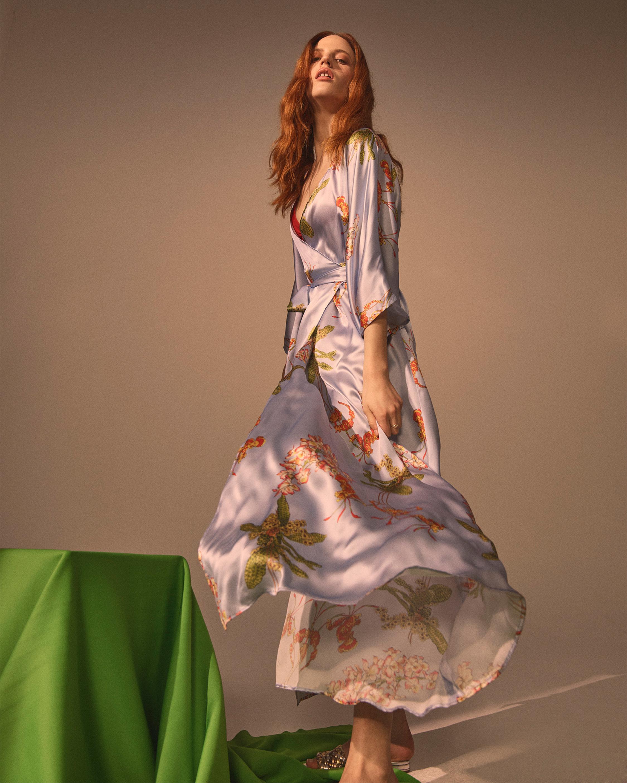Angela Silk Satin Dress