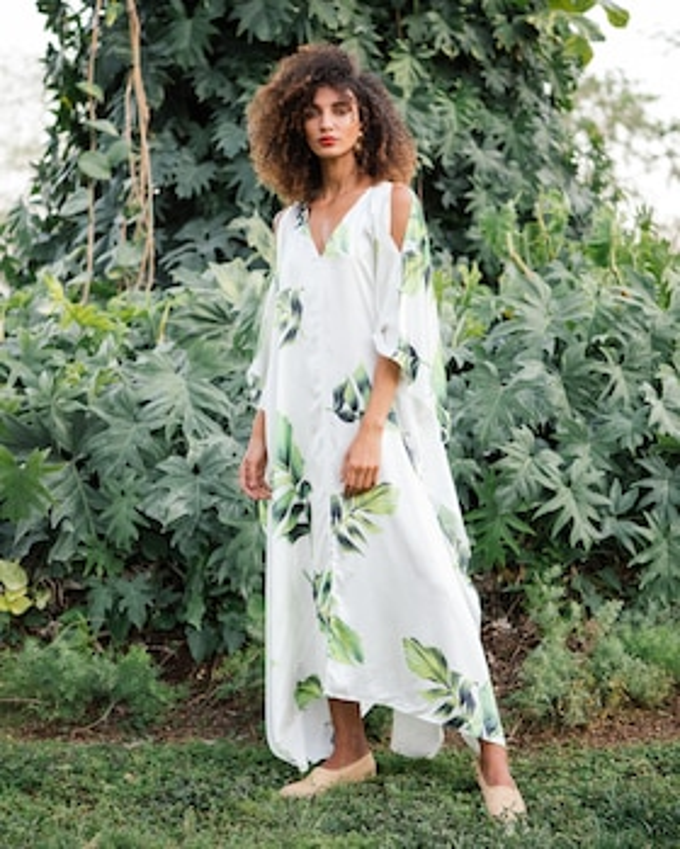 Carolina Silk Satin Kimono