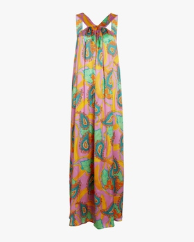Column Silk Satin Dress