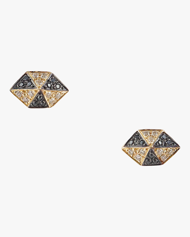 Harika Elongated Hexagon Studs 1