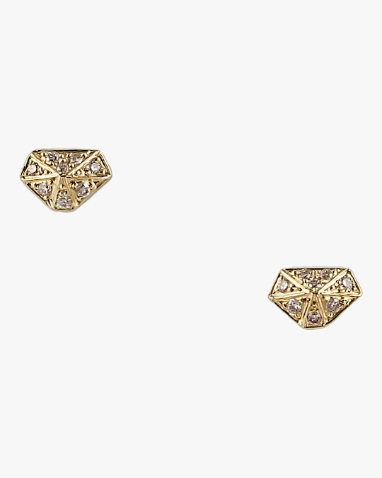 Harika Mini Diamond Shape Studs 0