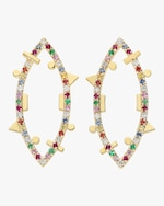 Harika Rainbow Elliptic Earrings 0