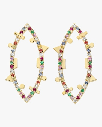 Rainbow Elliptic Earrings