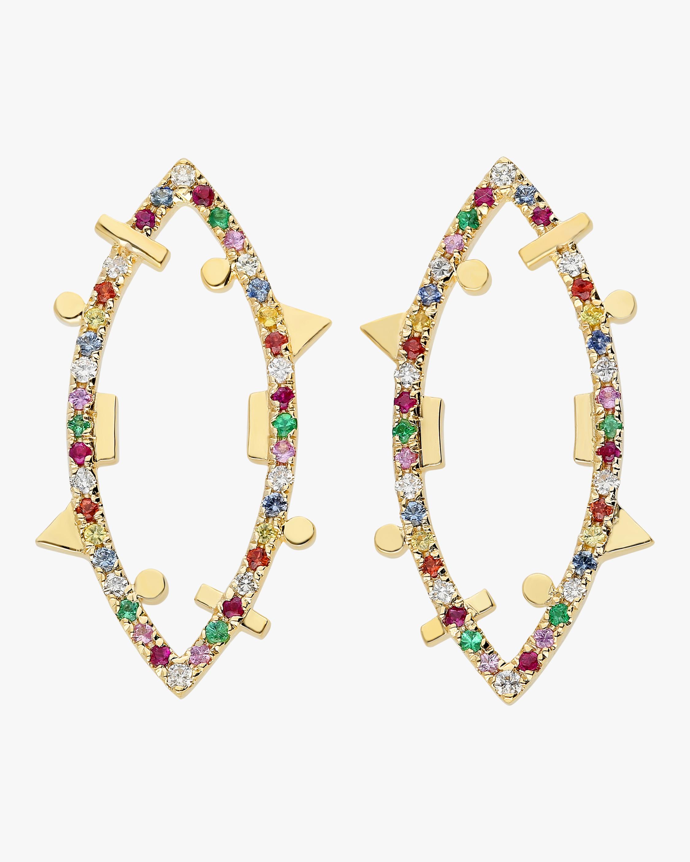 Harika Rainbow Elliptic Earrings 2