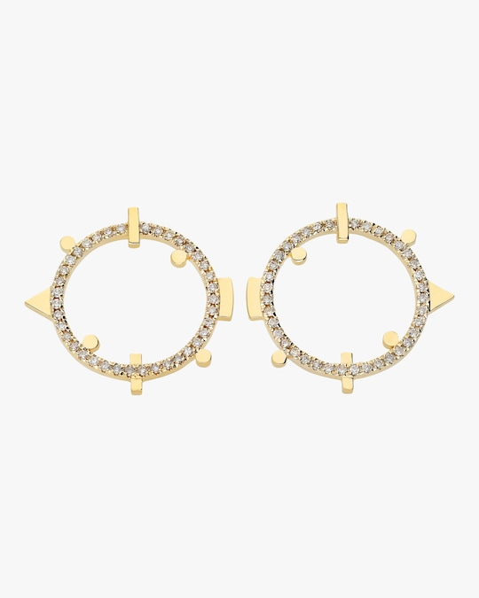 Harika Round Geo Earrings 0