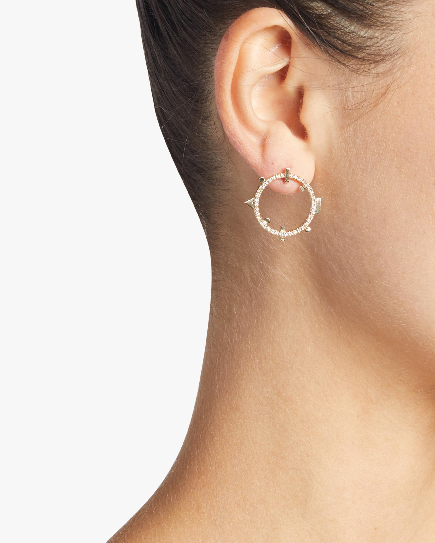 Harika Round Geo Earrings 2