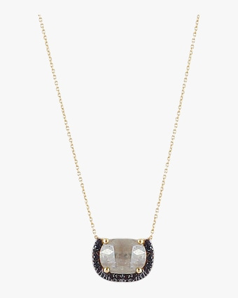 Mini Gray Diamond Necklace