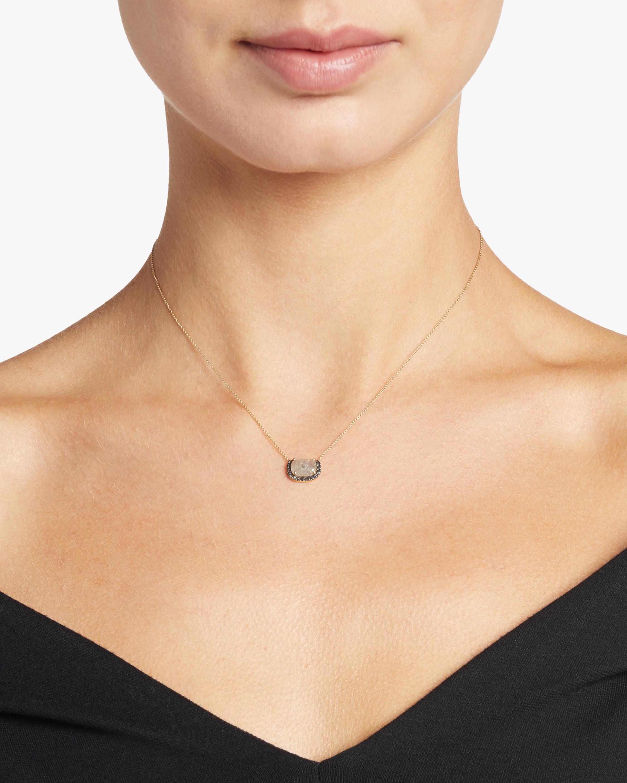 Harika Mini Gray Diamond Necklace 1