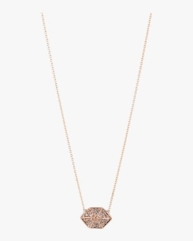 Elongated Hexagon Necklace