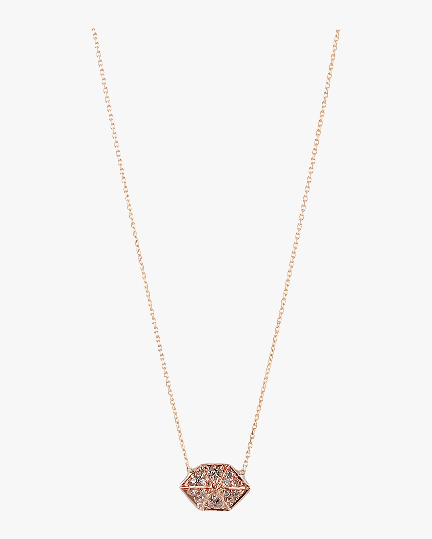 Harika Elongated Hexagon Necklace 1