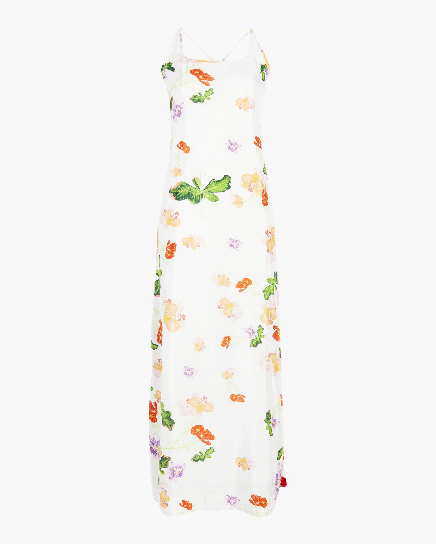 Pom Pom Cross Back Maxi Dress
