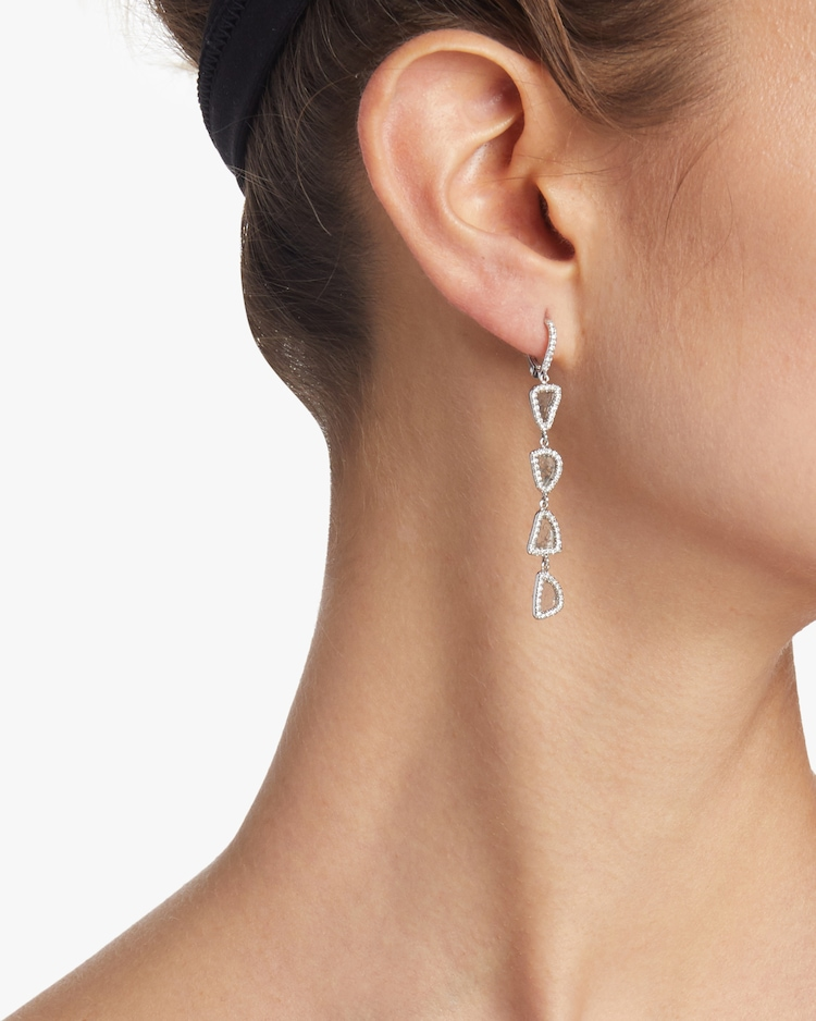 Four Tier Slice Diamond Earrings Nina Runsdorf