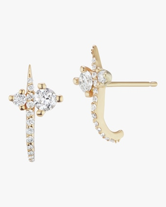 Sophie Ratner Hooked Pavé Stud Earrings 2