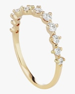 Sophie Ratner Half Band Diamond Swell Ring 0