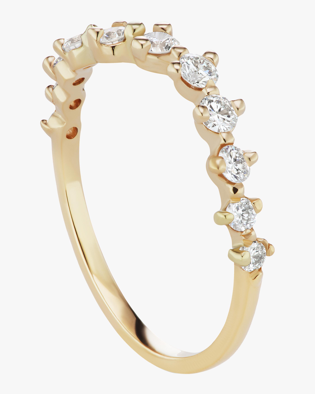 Half Band Diamond Swell Ring