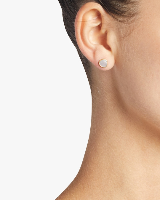 Pippa Small Mother of Pearl Stud Earrings 1