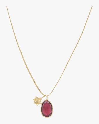 Gold Flower Colette Pendant Necklace