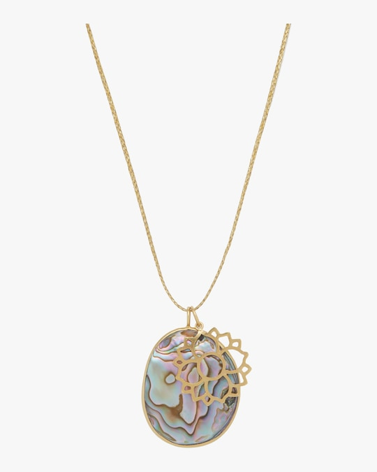 Pippa Small Gold Lotus Colette Pendant Necklace 0