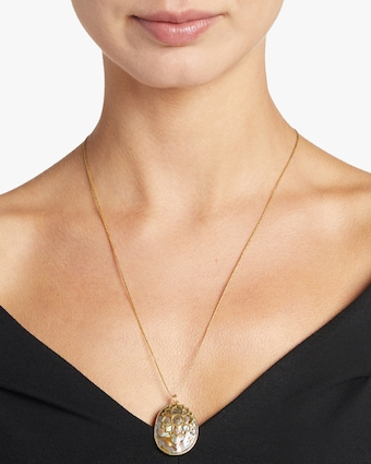 Pippa Small Gold Lotus Colette Pendant Necklace 2