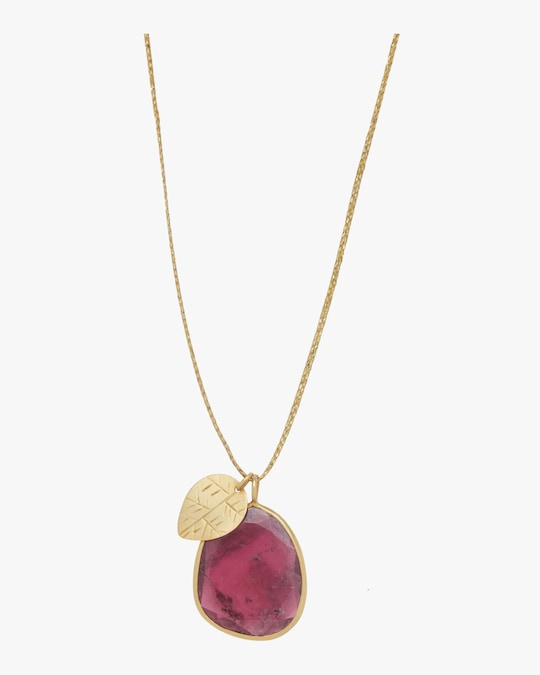 Pippa Small Gold Leaf Colette Pendant Necklace 0